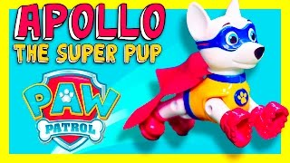 PAW PATROL Nickelodeon Apollo the Super Pup New Super Hero  paw Patrol Toys Video Unboxing