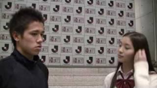 試合後にJリーグ特命PR部女子マネージャーの足立梨花さんが、初優勝を遂...