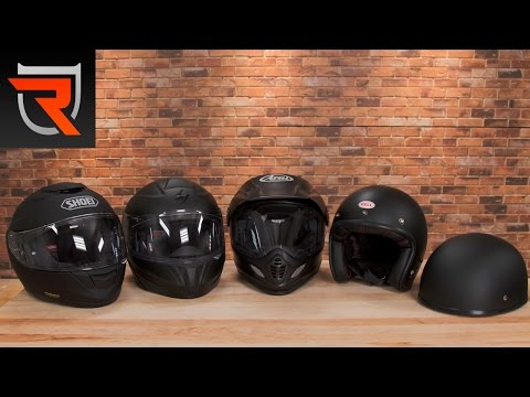 Motorcycle Helmet Type Buyer's Guide Video | Riders Domain