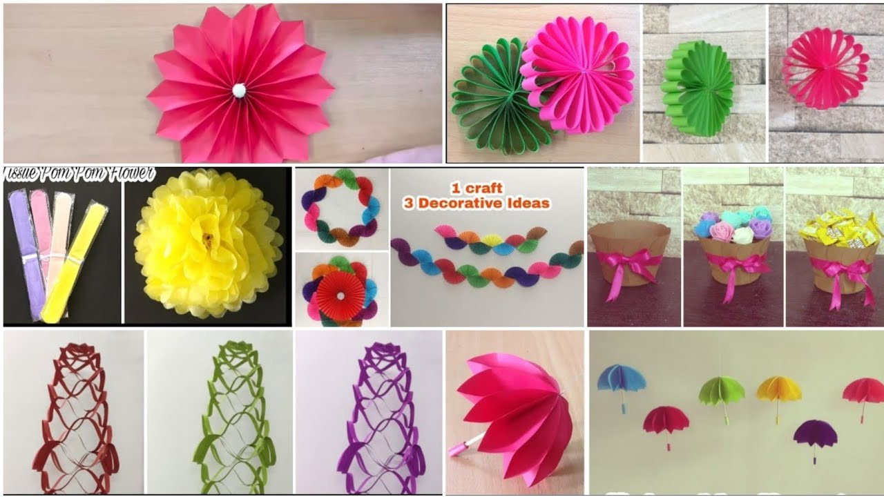 7 Best Birthday Decoration Ideas Diy Paper Craft Party Decoration Ideas At Home Youtube