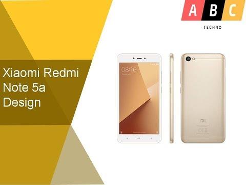 Xiaomi Redmi Note 5a Design