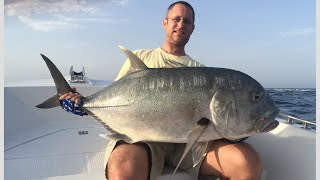 Huge GT - Almost slipped off the boat - Red sea fishing
