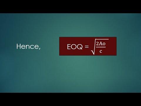 Economic Ordered Quantity (EOQ) | Material Costing |