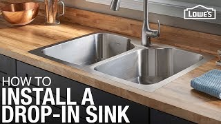 How To Install A Drop-in Kitchen Sink