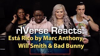 Riverse Reacts: Está Rico By Marc Anthony, Will Smith, Bad Bunny - M V Reaction