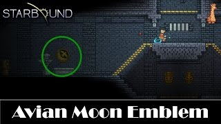 STARBOUND - Avian Moon Emblem Location : Pleased Giraffe Stable