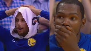 Stephen Curry CAN'T BELIEVE THIS DUNK! Kevin Durant SHOCKED By Jordan Bell's Self Alley-oop