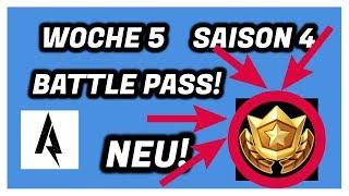FREE BATTLE PASS STERN WEEK 5 Saison 4 Fortnite Battle Royale