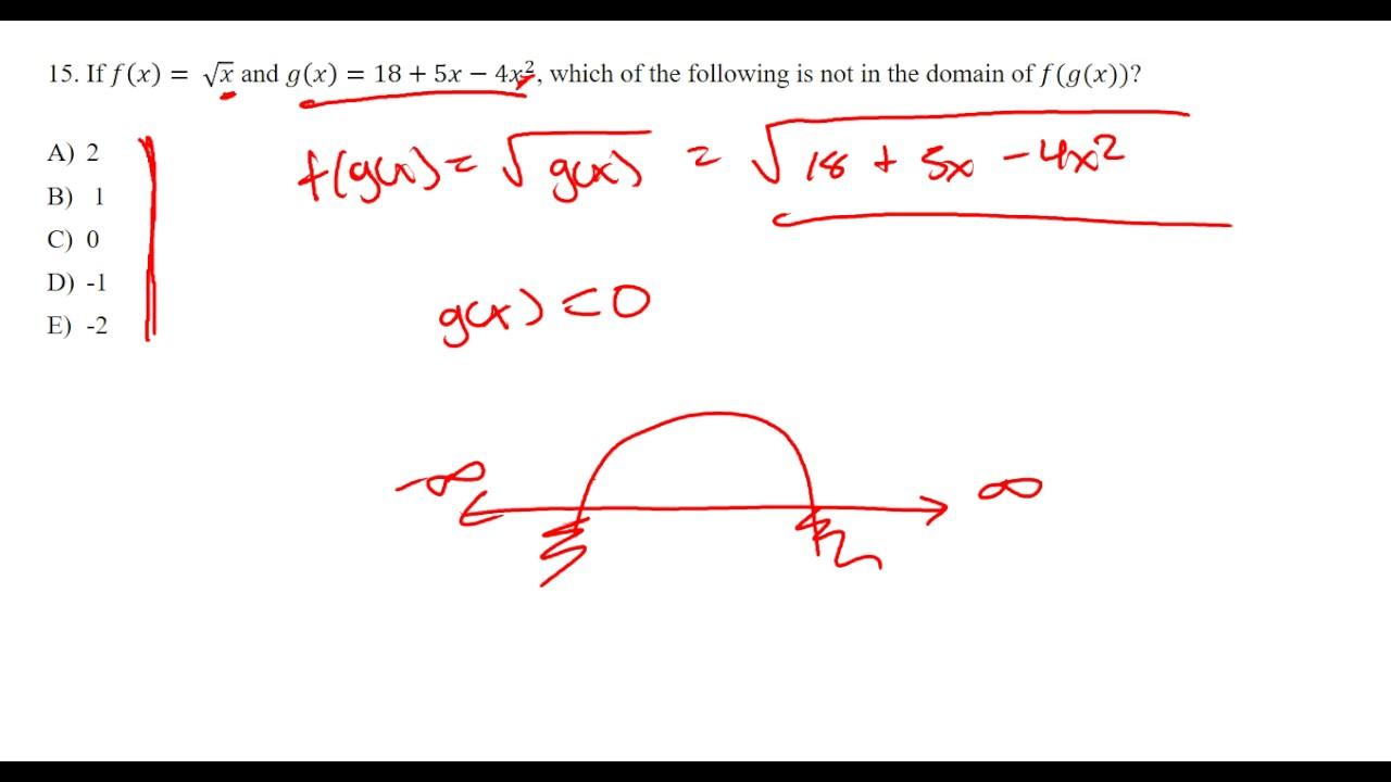 Sat 2 math 2 practice test question 15