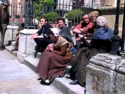 Matthew Macfadyen, A laugh with the cast of RIPPER STREET May 21st, Dublin. Ireland.