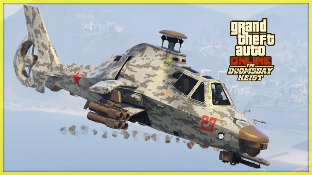 Elicottero Gta 5 : Nuovo elicottero da guerra akula su gta online