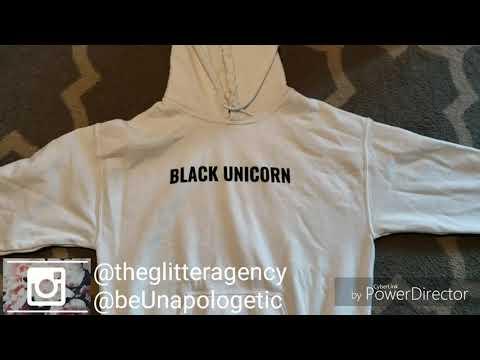 BLACK UNICORN Hoodie Crop Top - BTS