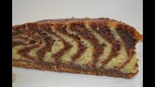 """Пирог """"Зебра"""" на кефире и растительном масле!!! Очень вкусно!!!"""