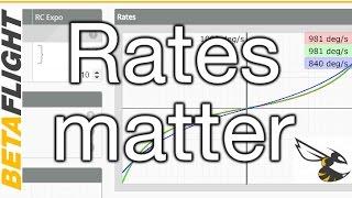 BetaFlight Rate Settings - For new and intermediate pilots