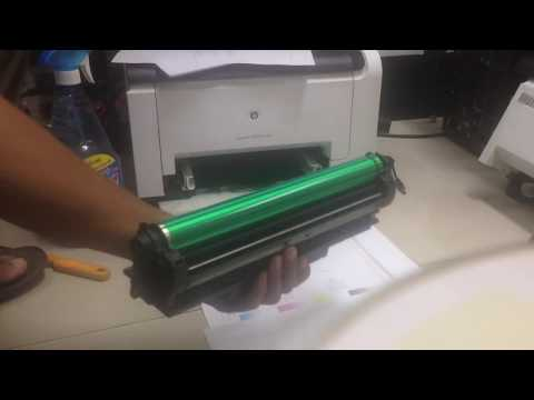 how to clean image drum for printer hp laser jet CP1025 color