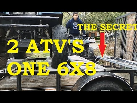 TWO 4 WHEELERS ONE 6x8 TRAILER SEE HOW!!