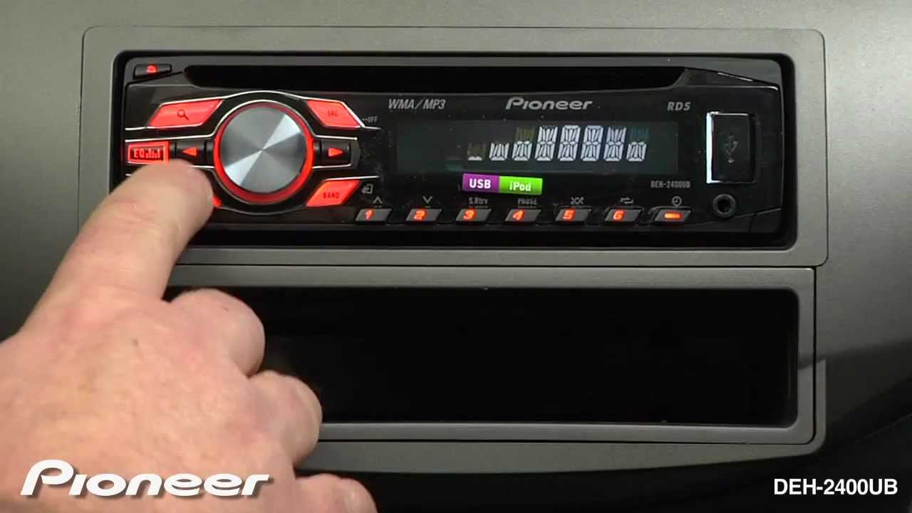 how to deh 2400ub rds tuner youtube rh youtube com manual for pioneer radio pioneer mixtrax radio manual