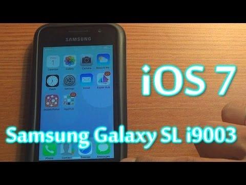 Teaser - iOS7 on Android - Samsung Galaxy SL i9003