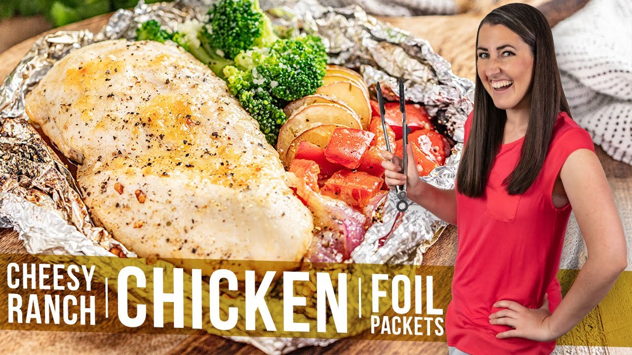 Cheesy Ranch Chicken Foil Packets
