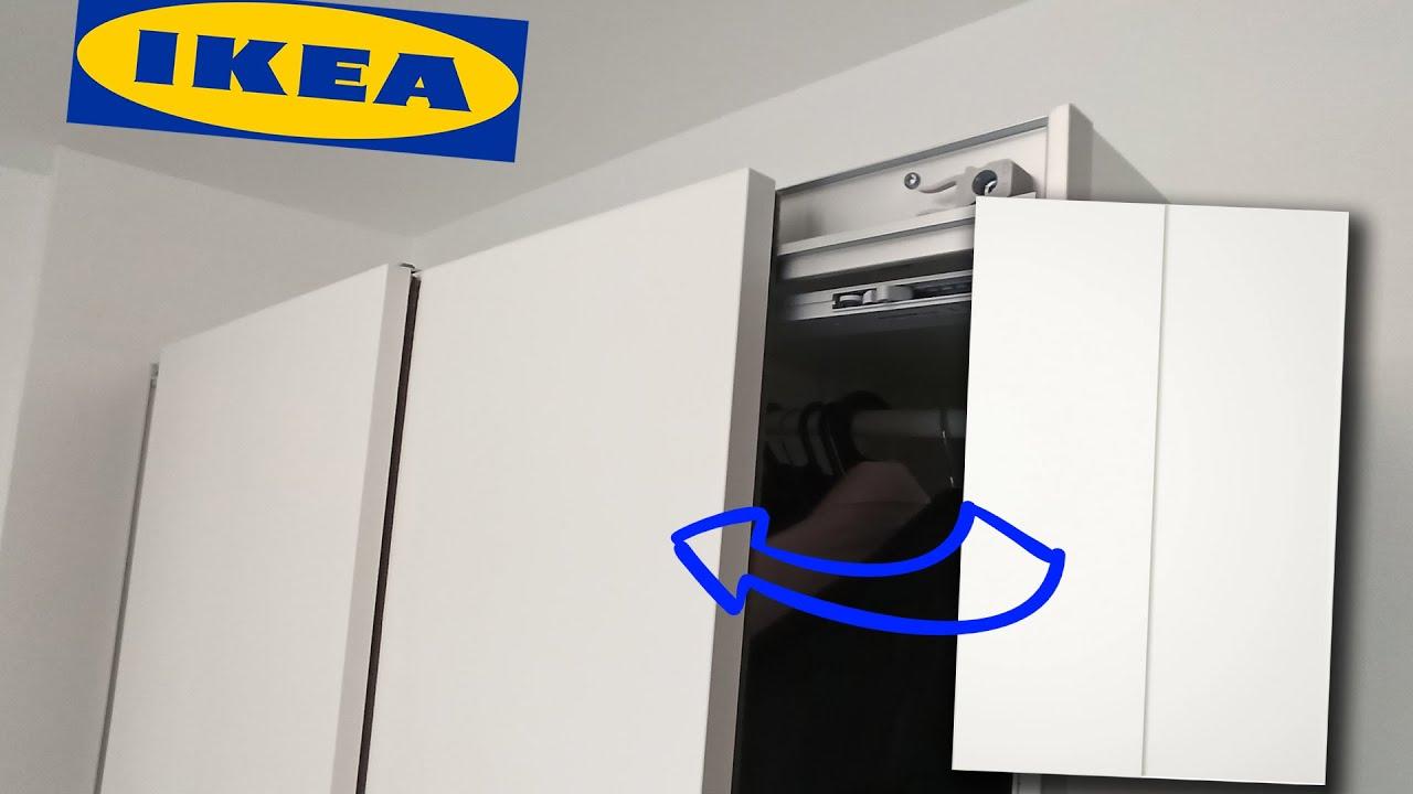Ikea Pax Wardrobe Pax Sliding Door Assembly Left Porte Coulissante Avant Gauche Youtube