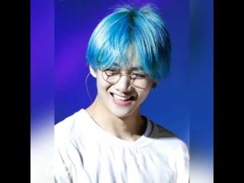Bts Taehyung V 2019 Cute Blue Hair Photos Youtube