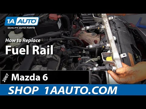How To Replace Fuel Rail 02-07 Mazda 6