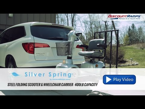 Silver Spring Steel Folding Scooter & Wheelchair Carrier - SC400-V2