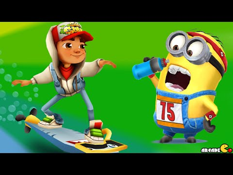 Despicable Me: Minion Rush Multi Player Challenge Subway Surfers Greece Map Hero Outfit!