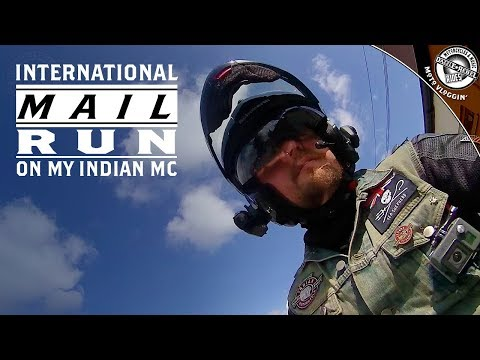 International Mail Run On My Indian Chief Vintage | Moto Vloggin' | S5E26