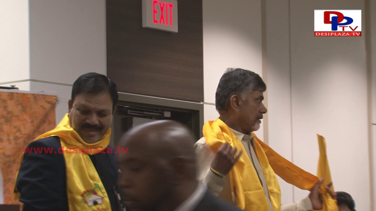 Nara Chandra Babu Naidu arrives to meet NRI TDP members during his Visit to Dallas
