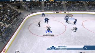 NHL 07 Capitals @ Leafs - Dynasty Mode Gameplay HD