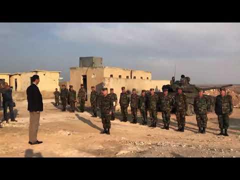 Президент Сирии Башар Асад на передовой в провинции Идлиб (город аль-Хобейт).