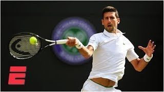 Novak Djokovic handles Ugo Humbert to advance to Wimbledon quarterfinals | 2019 Wimbledon Highlights