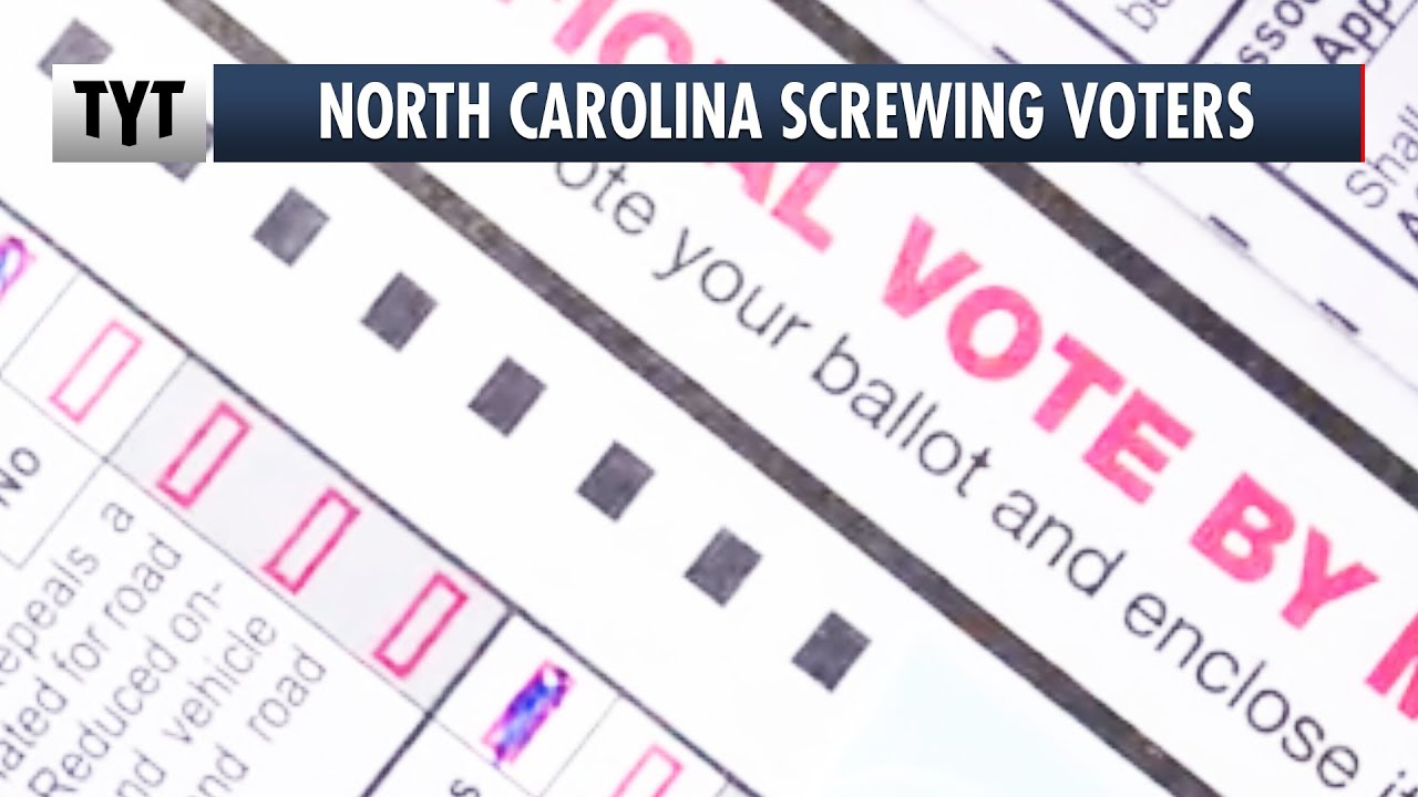 North Carolina REJECTING Black Voter's Ballots