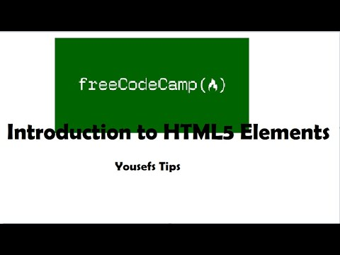 Introduction To HTML5 Elements - Basic HTML & HTML5 - Yousefs Tips
