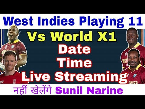 West Indies Playing 11 vs World X1: Date, Time, Live Telecast In Tv Channel, Full Details /