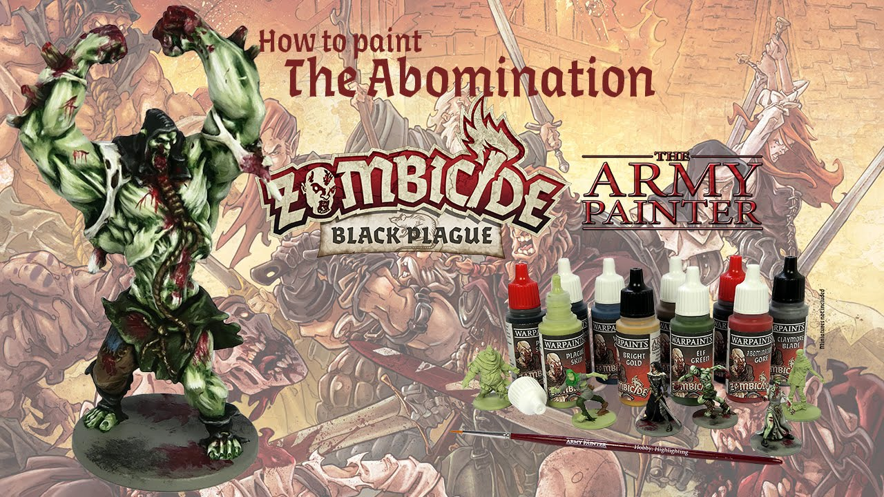 Zombicide Black Plague How to Paint Abomination  YouTube