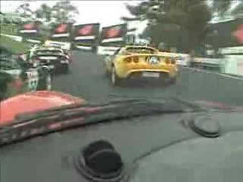 Lotus Elise Racing at Mt Panorama in OZ