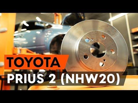 Как заменить передние тормозные диски наTOYOTA PRIUS 2 (NHW20)[ВИДЕОУРОК AUTODOC]