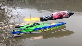 rocket powered rc speedboat amazing reaction