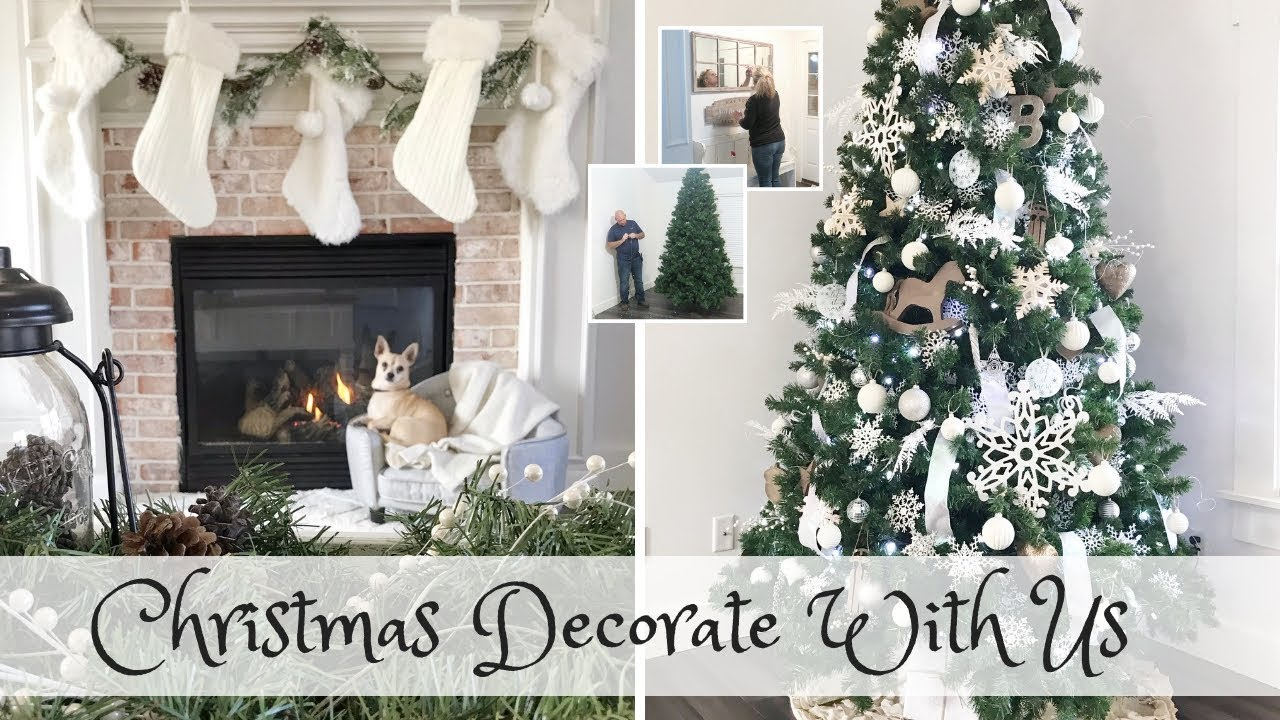Christmas Decorate With Us Modern Farmhouse Christmas Youtube