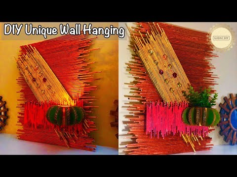 Newspaper wall hanging craft ideas | Wall hanging craft ideas easy | Craft ideas for home decor