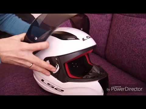 Как поменять Визор на шлеме LS2. Система Pin Lock