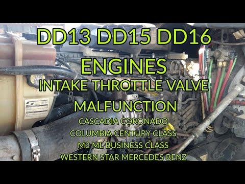 Freightliner cascadia DD13 DD15 DD16 spn 51 fmi 2 bad intake throttle valve  regen no happening