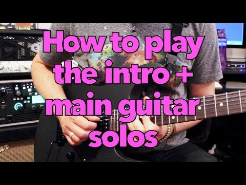 Just Like Paradise intro + main guitar solo lesson (Roth/Steve Vai) Weekend Wankshop 195