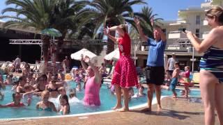 Thomson Entertainers, Chocolatte, Aqua fit and fun, Coma Gran, Sa Coma, Majorca, August 2012