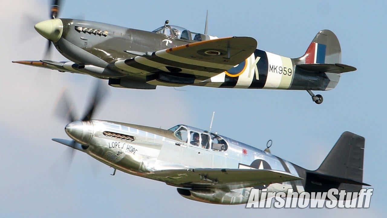 Mustang vs  Spitfire Aerobatics - EAA AirVenture Oshkosh 2019