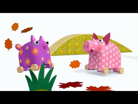 Теремок песенки для детей - Деревяшки: Перелет - Мультики для детей и малышей про игрушки