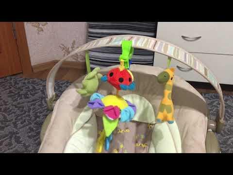 Обзор на детский шезлонг, кресло-качалка Bambi 60683