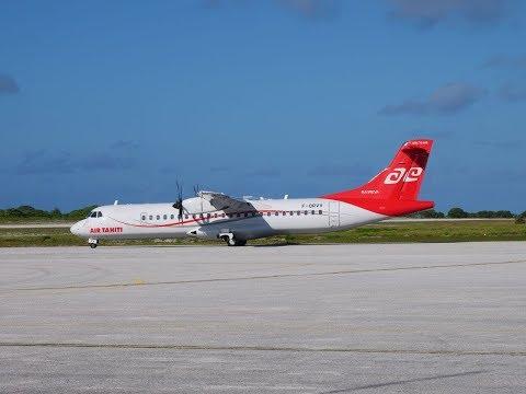 Amazing take off & landing video with Air Tahiti ATR72 (HD): Papeete to Rangiroa, French Polynesia